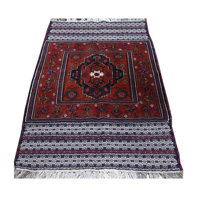 Hand woven Persian Ghochan tribal rug. This rug is knotted by a large nomadic tribe between Persia and Afghanistan with a...