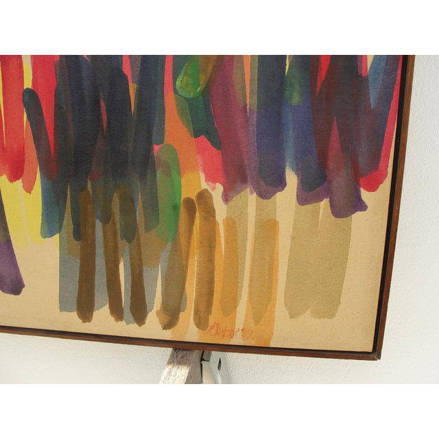1970s 1972 Vintage John Bledsoe Washington School of Color Painting For Sale - Image 5 of 11