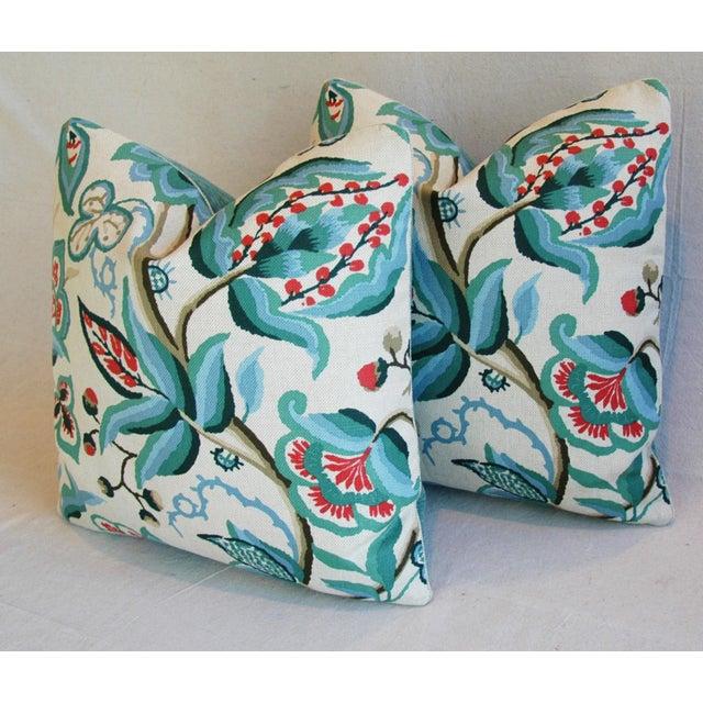 Schumacher Alexandra Floral Velvet Pillows - a Pair - Image 6 of 10
