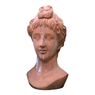 Terra Cotta Bust Planter For Sale