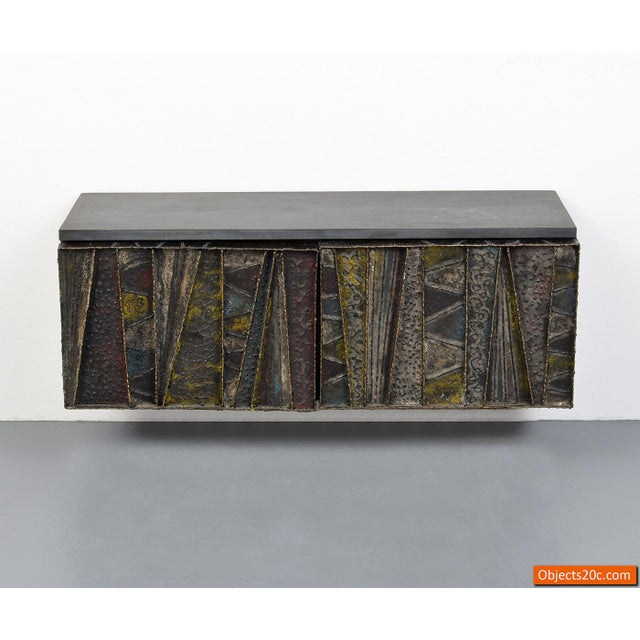 Vintage Mid-Century Paul Evans Deep Relief Cabinet For Sale - Image 9 of 11