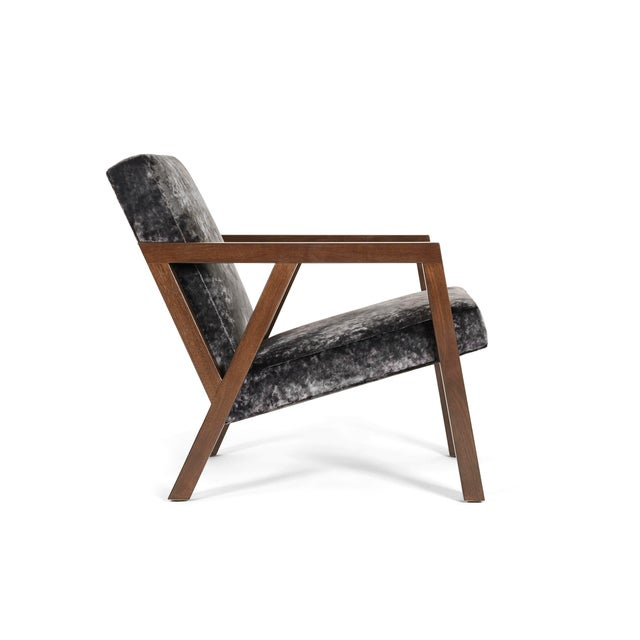 Contemporary Modern Walnut Moda Chair For Sale - Image 3 of 8