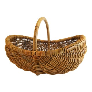 Rattan Wicker Market Basket