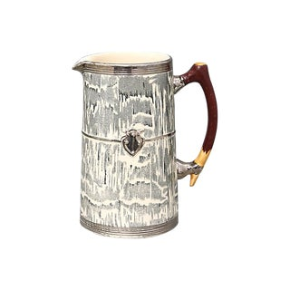 1930s Silver Shield Faux-Bois Jug For Sale