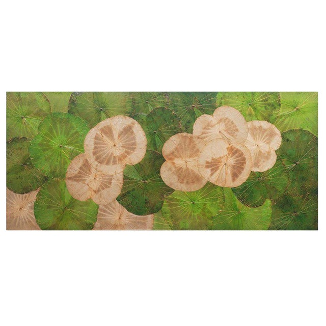 Contemporary Thai Lotus Leaf Wall Hanging For Sale