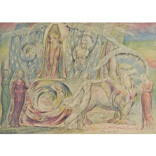 """W. Blake """"Beatrice Addressing Dante"""" Lithograph For Sale"""