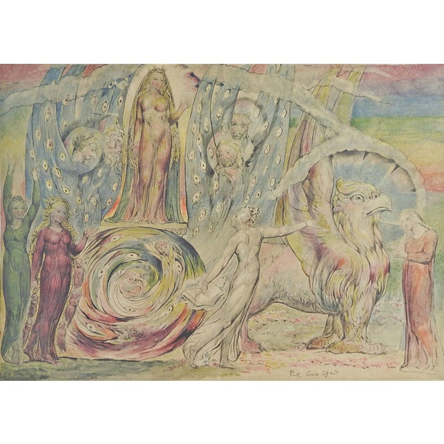 "W. Blake ""Beatrice Addressing Dante"" Lithograph For Sale"