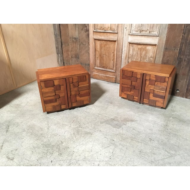 Altavista Lane Lane Altavista Brutalist Nightstands - a Pair For Sale - Image 4 of 8