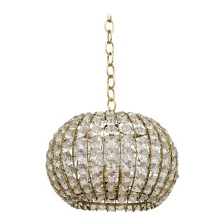 Austrian Beaded Chandelier For Sale