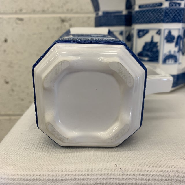 1980s Blue & White Chinoiserie Coffee Mugs - a Set 10 For Sale - Image 5 of 13