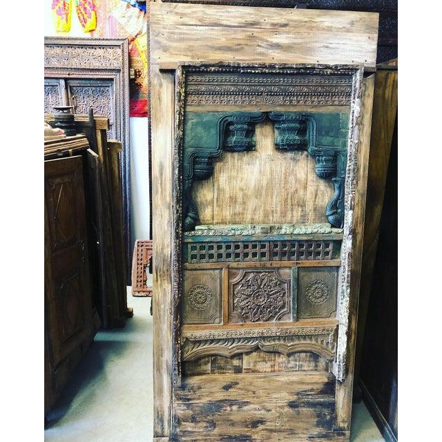 1990s Antique Barn Door Farmhouse Wine Cellar Door Eclectic Rustic Art For Sale - Image 5 of 5