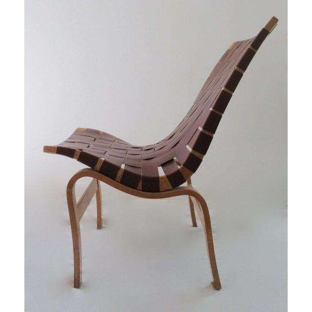 "Danish Modern Final Markdown: 1940-49 Vintage Bruno Mathsson Mid-Century Modern Scandinavian ""Eva"" Easy Chairs - a Pair For Sale - Image 3 of 13"