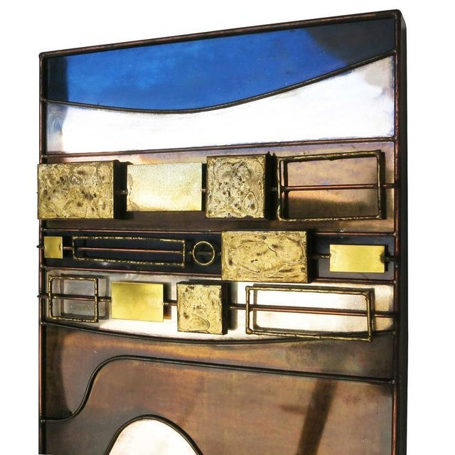 Large Curtis Jere Abstract Mix Metal Wall Art Sculpture - Image 5 of 7