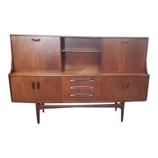 """Vintage """"G-Plan"""" Two Tier Teak Credenza Bar Cabinet C.1960s For Sale"""