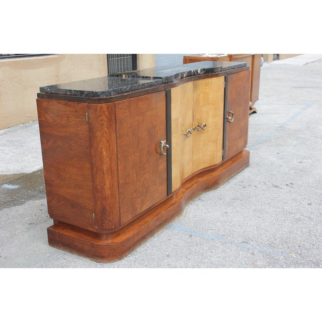 French Art Deco Palisander and Sycamore Buffet / Sideboard By Tricoire Circa 1930s - Image 3 of 11