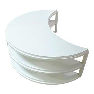 Henredon Furniture White Dove Crescent Occasional Table For Sale