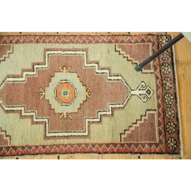 "Islamic Vintage Turkish Oushak Runner - 1'7"" x 2'8"" For Sale - Image 3 of 6"