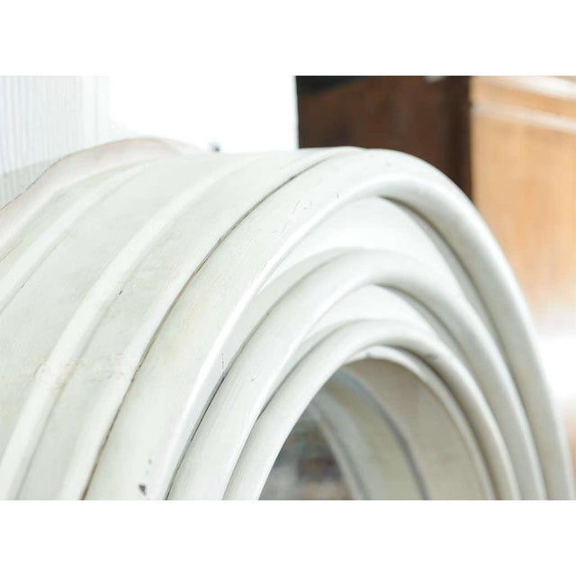 Round Painted Zinc Architectural Element With Mirror For Sale In San Francisco - Image 6 of 8