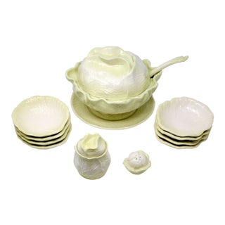 Vintage Large Cabbage Soup Tureen Set - Set of 11