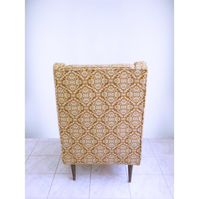 Edward Wormley Mid Century Modern Chair Edward Wormley for Dunbar Style High Back Lounge Chair For Sale - Image 4 of 7