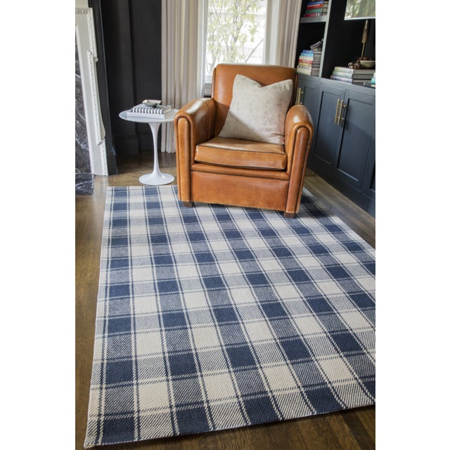Erin Gates by Momeni Marlborough Charles Navy Hand Woven Wool Area Rug - 8′ × 10′ For Sale In Atlanta - Image 6 of 7