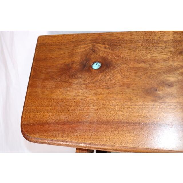1980s Vintage Southwestern Wood Folding Table For Sale - Image 9 of 11