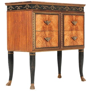 French Regency Mahogany Veneer Commode