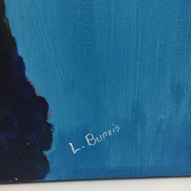 L. Burris Abstract Wolf Acrylic Painting - Image 4 of 6