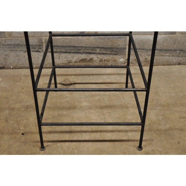 Metal Wrought Iron Curule Frame Scroll Back Seat Bar Counter Stools - a Pair For Sale - Image 7 of 11