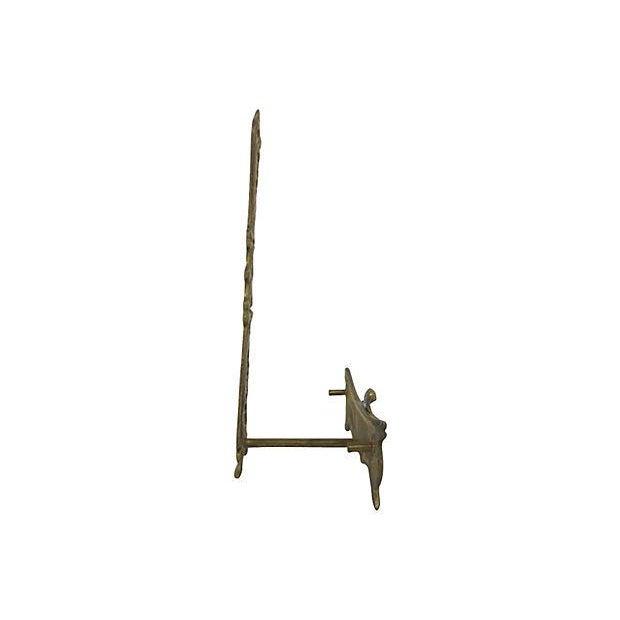 Figural Brass Plate Holder - Image 3 of 3
