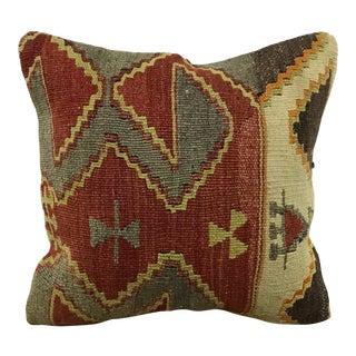 Turkish Tribal Anatolian Antique Handmade Kilim Pillow For Sale