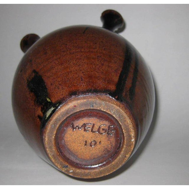 Studio Pottery Five-Chimney Weed Pot Vase With Drip Glaze For Sale In Sacramento - Image 6 of 8