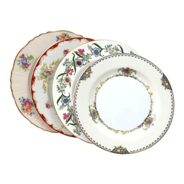 """Mismatched Vintage 8"""" Dessert Plates - Set of 4 - Image 1 of 7"""