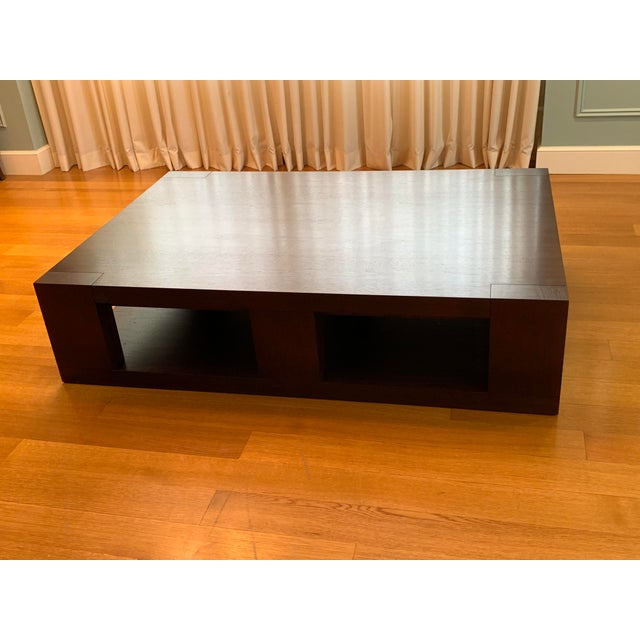 Contemporary Christian Liaigre Contemporary Walnut Coffee Table For Sale - Image 3 of 13