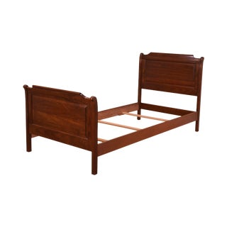 Stickley Cherry Valley Twin Sleigh Bed For Sale