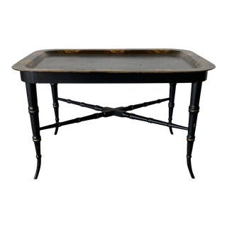 19th C English Tray on Stand For Sale
