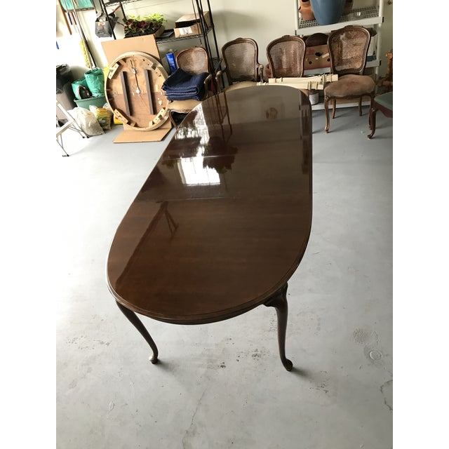 Green 1970s Thomasville Queen Anne Dining Table For Sale - Image 8 of 13