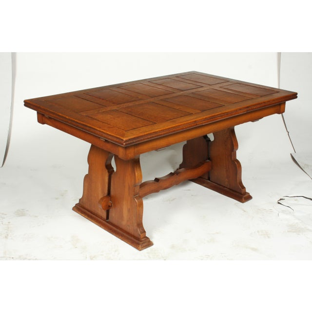 C.1940 Belgian Trestle Dining Table For Sale In Nashville - Image 6 of 9