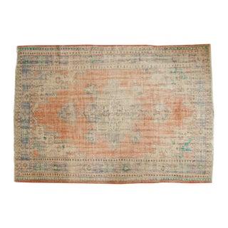 "Vintage Distressed Oushak Carpet - 6'1"" X 8'9"" For Sale"