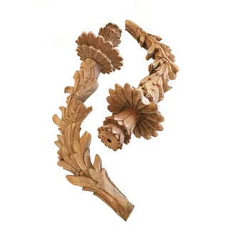 Carved Wood Chandelier Arms - A Pair For Sale