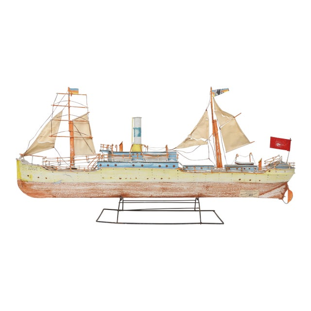 Large Model Boat Ship with Stand - Image 1 of 9