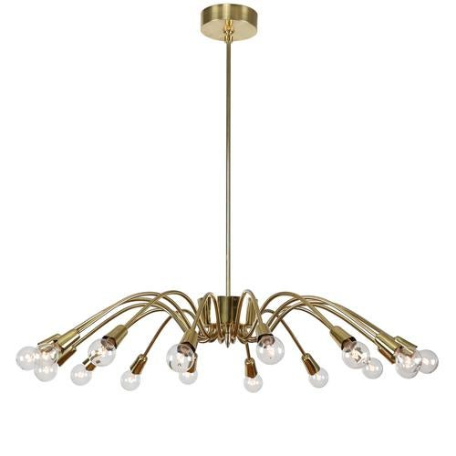 Exceptional 1950s italian 16 arm spider chandelier decaso 1950s italian 16 arm spider chandelier image 2 of 7 mozeypictures Choice Image