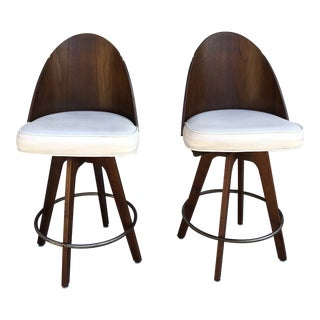 Chet Beardsley Mid-Century Bar Stools - A Pair For Sale