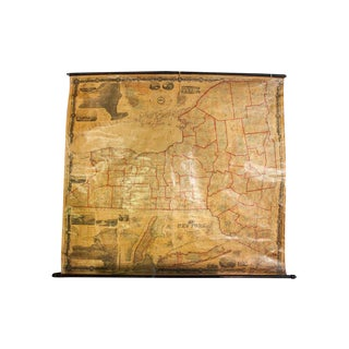Pre-Civil War New York Pull Down Map For Sale