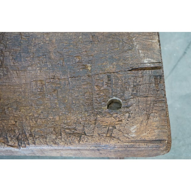 Small Primitive Wooden Table For Sale - Image 9 of 10