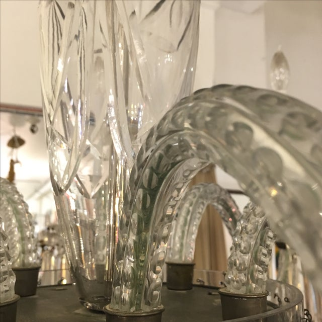 Antique Eight Arm Crystal Chandelier - Image 10 of 11