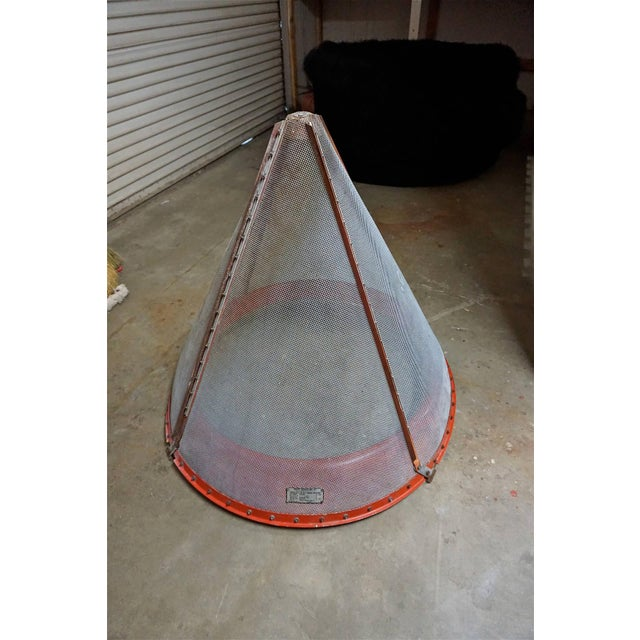 1950s Giant Industrial Sieve or Strainer For Sale - Image 5 of 7
