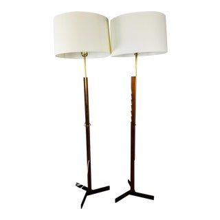 Vintage 1950s Floor Lamps by Holm Sorensen - A Pair For Sale
