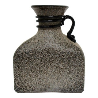 Textured Glass Bottle Vase For Sale