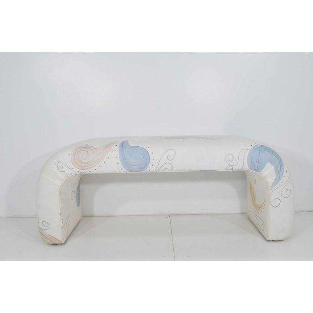 Textile 1980s Vintage Waterfall Bench For Sale - Image 7 of 7